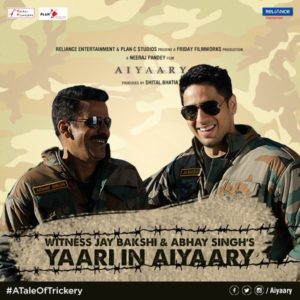 Aiyaary Movie 2018 Reviews Plot Cast Songs Readers Fusion