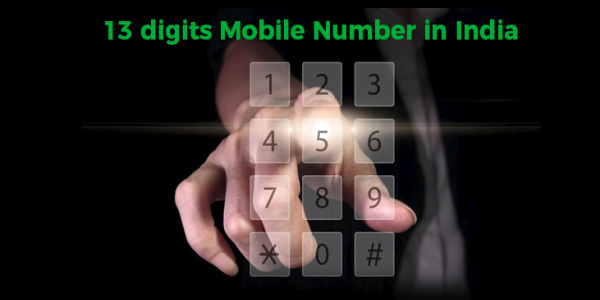 13 digits mobile number india