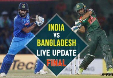 India wins with Dinesh Karthik's last ball six: Nidahas Final 2018