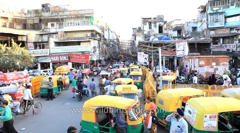 traffic chaos chandni chowk roads