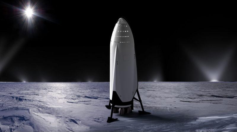 SpaceX Mars Rocket Illustration