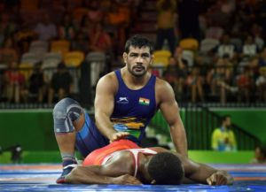 Sushil Kumar Enters CWG Wrestling Finals