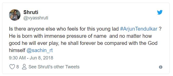 Arjun Tendulkar Under-19 Team