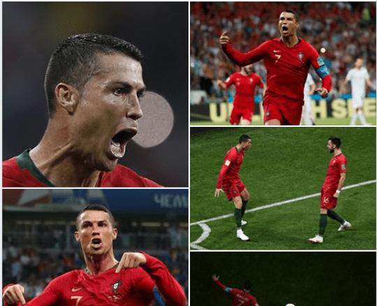 Por vs Spa Ronaldo Hat-Trick