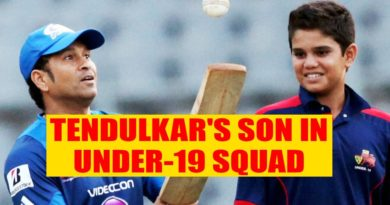 Tendulkar's son in Under-19 squad