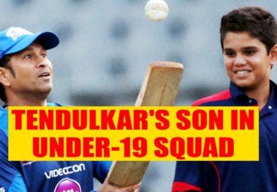 Tendulkar's son in Under-19 squad