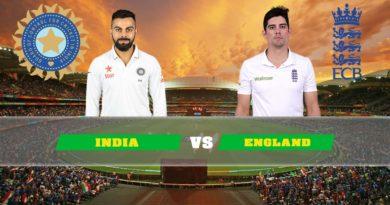 India vs England 5th Test Match